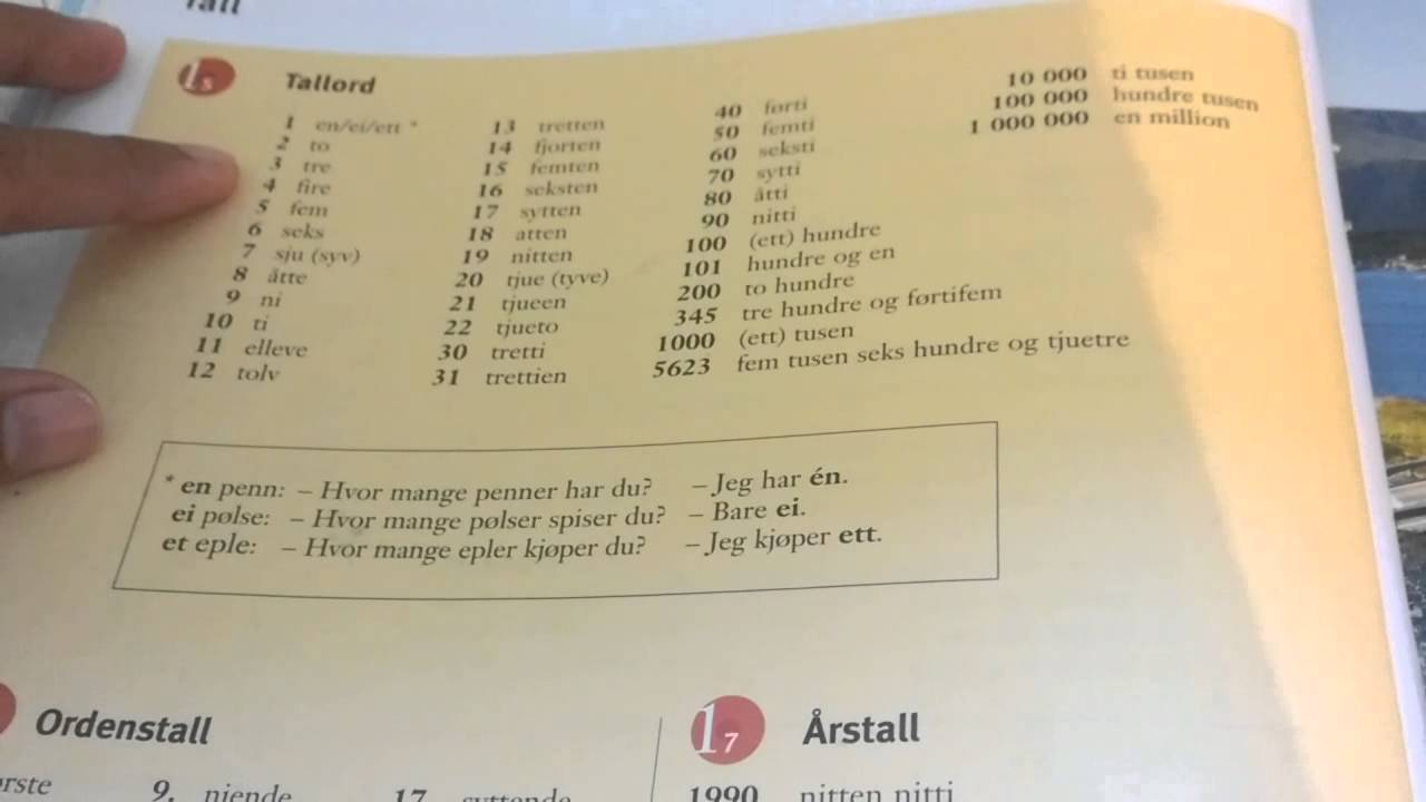 Learn norwegian numbers