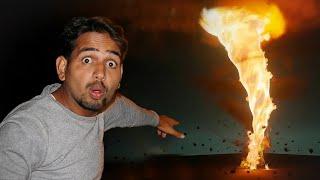 We Made Fire Tornado At Home - आग का बवंडर बना दिया 😱