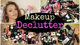 Makeup Collection Declutter 2015  - Goodbye to 70% of my makeup!