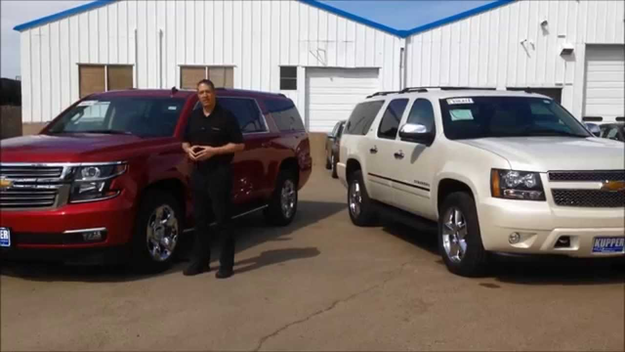 Suburban Vs Tahoe >> 2014-2015 Chevy Suburban Comparison - YouTube