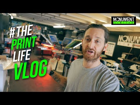 Screen Printing Vlog | Our Second day with a cheap quarts flash from china | The Print Life