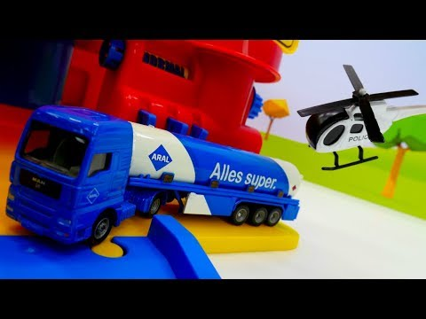 Cars for kids & truck toys. Kids videos with toy truck 🚚 toy helicopter 🚁 & fire truck 🚒