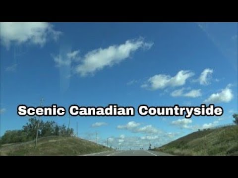 | Scenic Canadian Village Drive | Countryside Small Town Driving In Ontario |