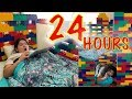 24 Hours Overnight in Our LEGO Mansion Challenge
