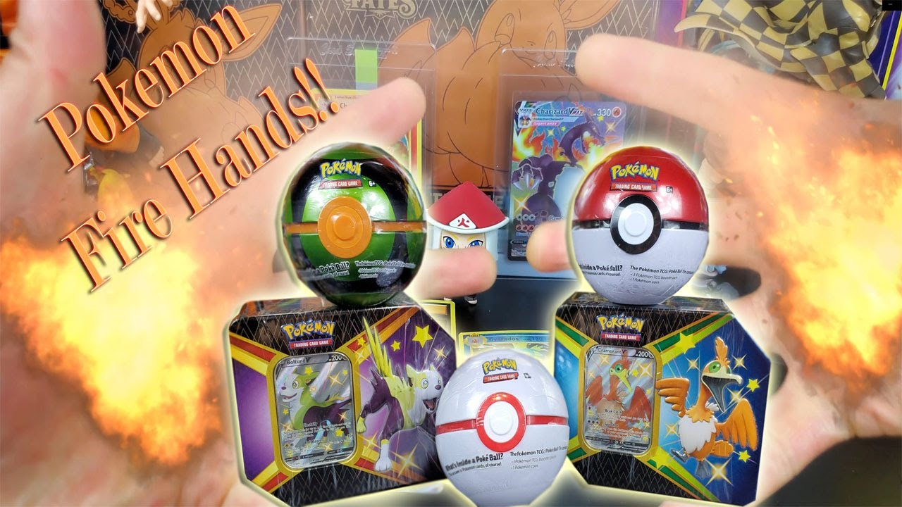 Pokemon Poke-Ball Fire tins Opening!!! WE PULLED ANOTHER ONE!!!!