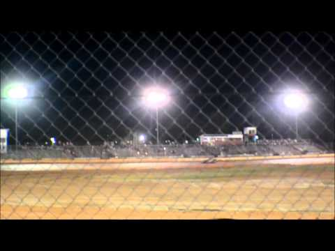 12 year old Jordan fowler golden isles speedway 6/20/15 feature race 440