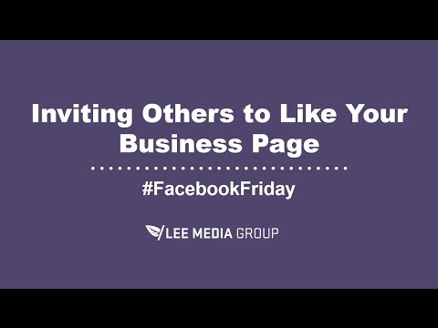 How to Invite People to Like Your Business Page on Facebook