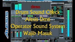 check sound drum modul alesis dm5 alternatif bagi sound sistem yg belum punya drum