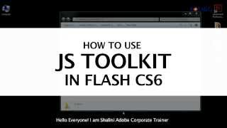 How to Use JS Toolkit in Flash CS6?