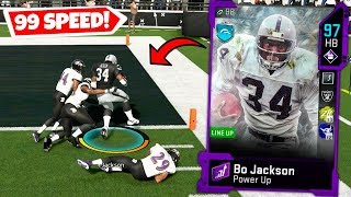 99 SPEED BO JACKSON IS UNSTOPPABLE! MADDEN 20 ULTIMATE TEAM