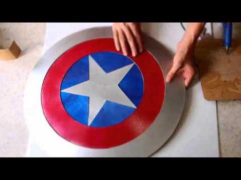 #44: Captain America's Shield DIY 2/2 - Hot Glue + 'Cardboard' (PDF template) | How To | Dali DIY