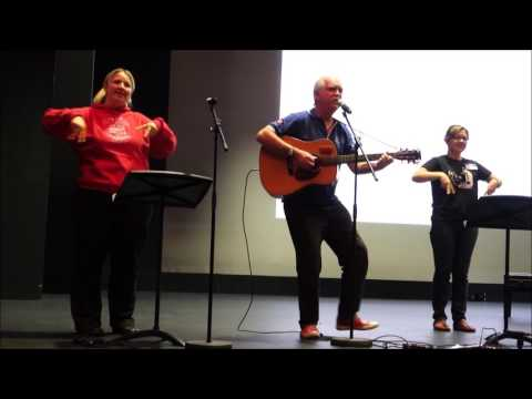 Pass The Song Along at Australian Society for Music Education Forum with Auslan & Makaton signing