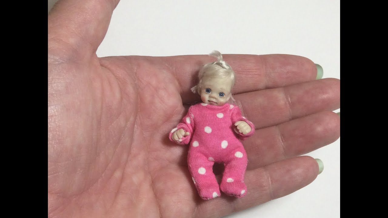 MINIATURE TUTORIAL Dollhouse Baby Doll Sleepsuit Clothes DIY