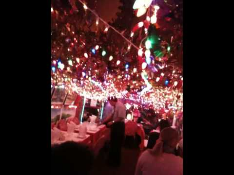 Lights show at Restaurant Milon, NYC