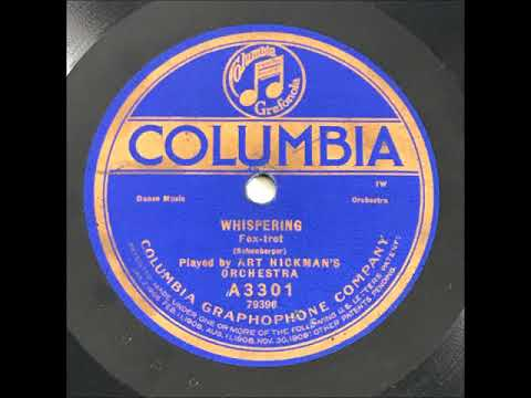 Art Hickman's Orchestra - Whispering (1920)