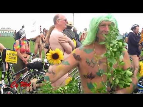 A Rider's Eye View of the World Naked Bike Ride (WNBR) Brighton 2016