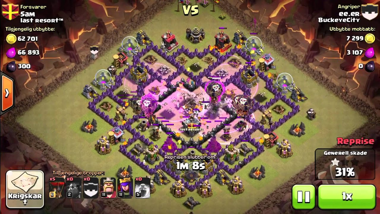 Hog Rider 360 Clash Of Clans Lavaloon Attack Th9 Clashwithhector Doovi