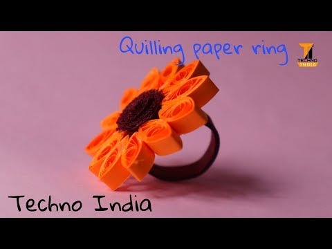 Quilling paper ring...