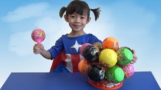 Surprise Egg Unboxing Toys And Candy – Trò Chơi Bóc Trứng Bất Ngờ ❤ AnAn ToysReview TV ❤