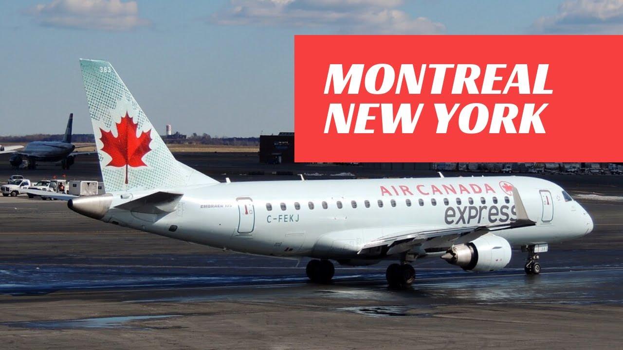 Montreal (YUL) - New York(LGA) AirCanada Embraer ERJ 175 Fli