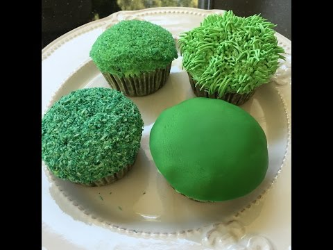 How to make green grass color icing