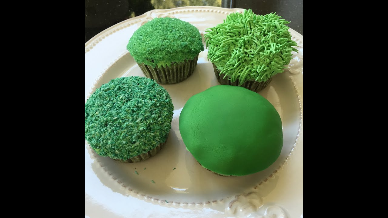 How to create grass on cakes and cupcakes