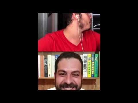 Mulher de Fábio Porchat aparece seminua ao vivo em live com Guilherme Boulos