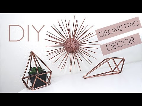 DIY GEOMETRIC ROOM DECOR | Himmeli Orb WITH STRAWS | PINTEREST & TUMBLR