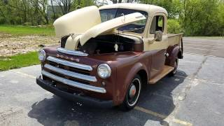1949 Dodge B series Pick up for sale Pre purchase inspection video auto appraisal 800-301-3886