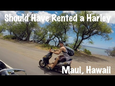 He Should Have Rented a Harley-Davidson | Riding scooter in flip flops, shorts, and tank top