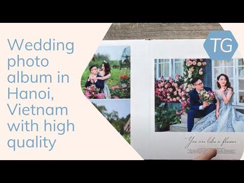 Wedding photo album in Hanoi, Vietnam with high quality