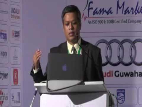 Dr  Bikash Rai Das, GNRC Hoapitals speaking at Northeast Healthcare Summit