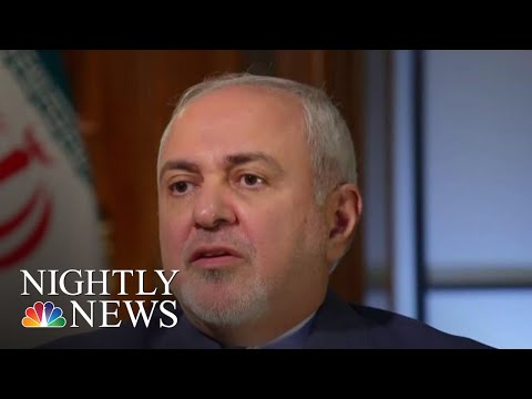 Iran Foreign Minister Speaks Out About Escalating Tension With US Potential War  NBC Nightly News