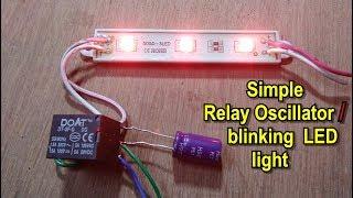 Zonder IC | Hoe te maken van eenvoudige oscillator/knipperen/knipperende verlichting het gebruik van DC-relais