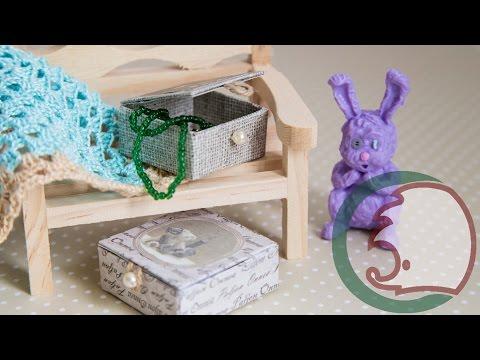 Cмотреть онлайн Как сделать шкатулку для кукол. How to make treasure box.