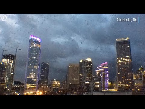 Timelapse of Florence bands arriving in Charlotte