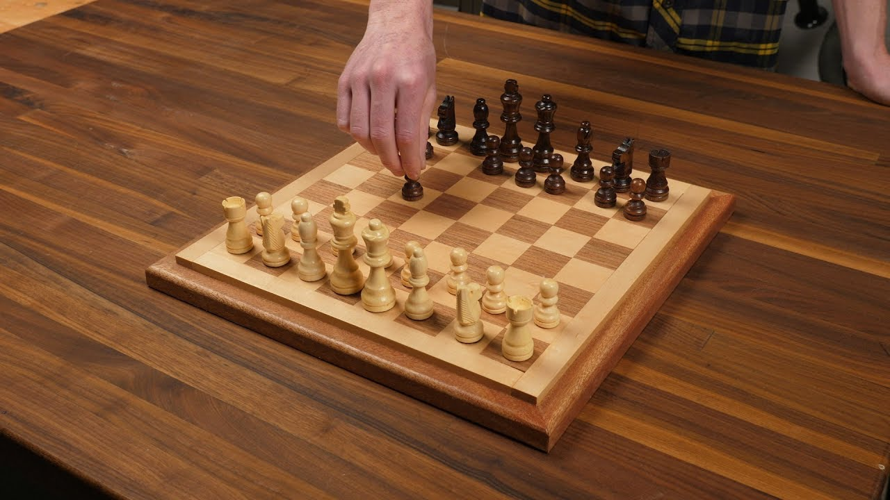 Three Hour Project Wooden Chess Board Youtube