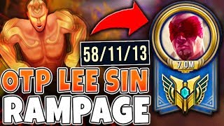 wHEN 7 MILLION MASTERY POINTS LEE SIN ONE TRICK CATCHES FIRE IN RANKED - League of Legends