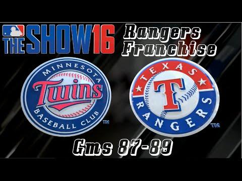 MLB 16 The Show Texas Rangers Franchise - Gms 87-89 vs Minnesota Twins