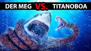 Megalodon VS. die größte Schlange der Welt — WER GEWINNT?