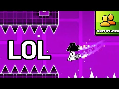 GEOMETRY DASH MULTIPLAYER BUT LOL (with Mulpan)