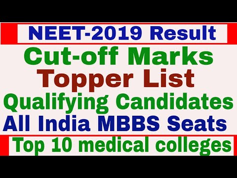 NEET Result 2019 || Qualifying Candidates | Cut-off List | All India Toppers | Top Medical Colleges