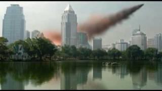 CGI meteor in bangkok thailand