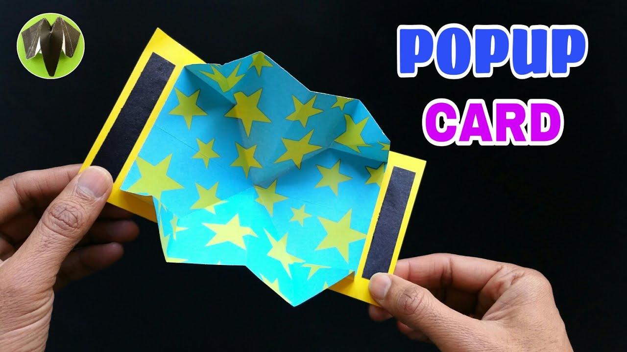 easy popup card  diy  scrapbook  handmade  tutorial