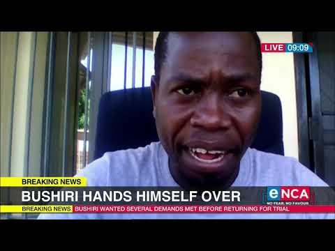 Bushiri hands himself over