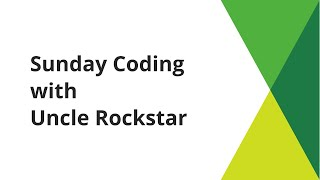 Sunday Coding with Uncle Rockstar - EP 18 - FastSync for Bitcoin