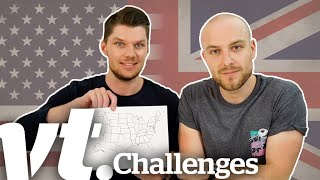 British People Take On American Geography Quiz | VT Challenges