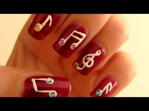 Music Notes Nail Art Tutorial