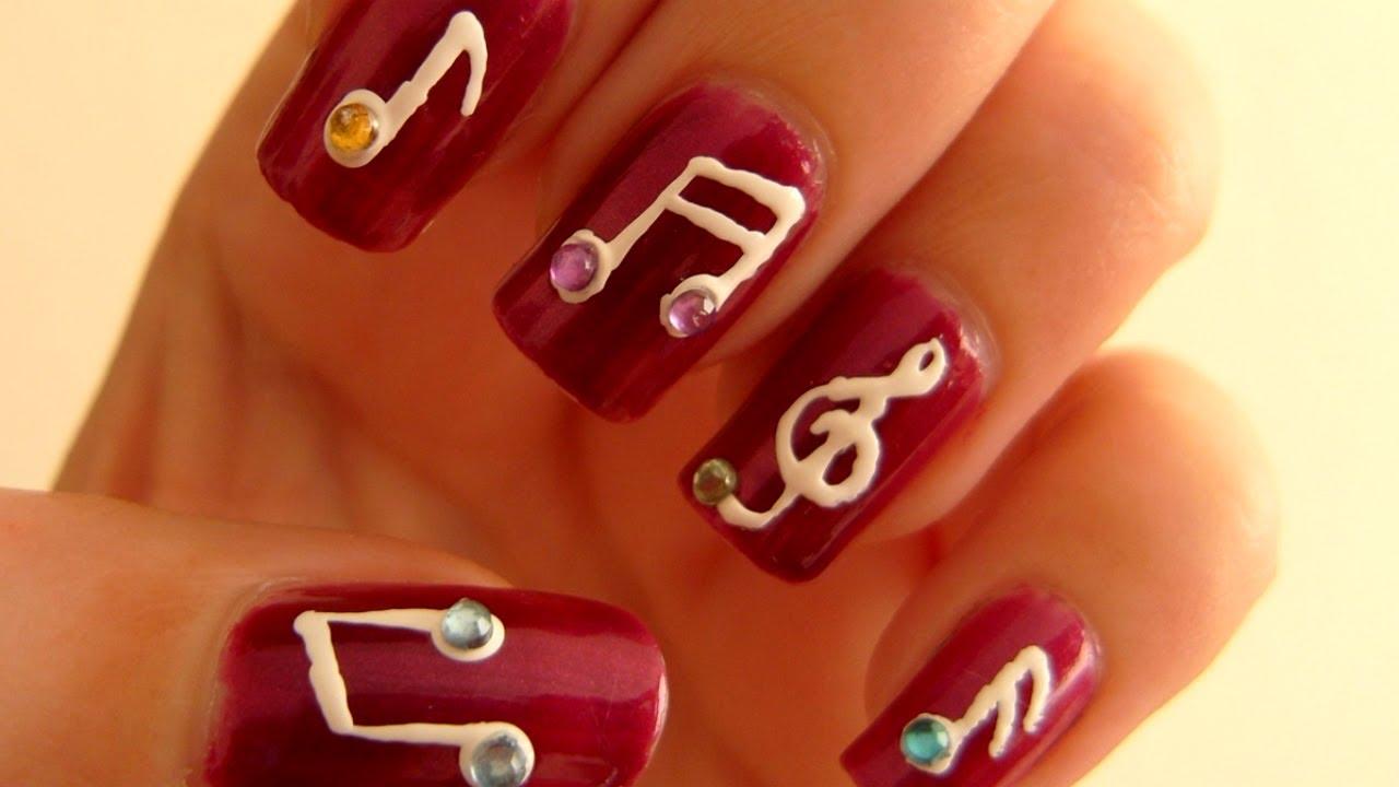 Music Notes Nail Art Tutorial Youtube