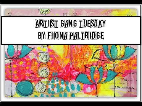 An Art journal Page For Donna Downey's Artist gang